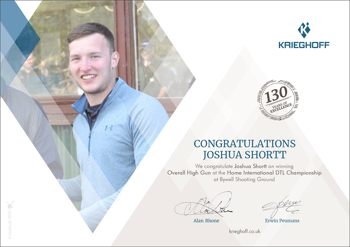Joshua Shortt - Home International DTL High Gun
