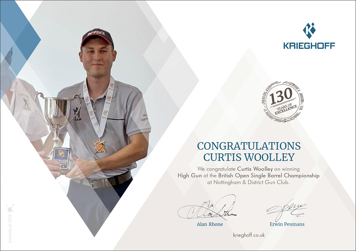 Curtis Woolley - British Single Barrel Champion